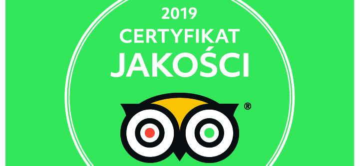Certyfikat Jakości TripAdvisor 2019 dla Muzeum Toruńskiego Piernika!