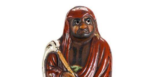 Porcelanowa figurka Darumy